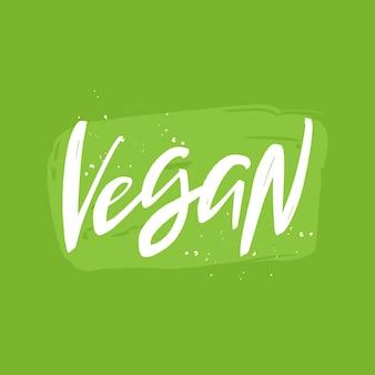 Vegan brush lettering inscription handwritten quote vegan lifestyle