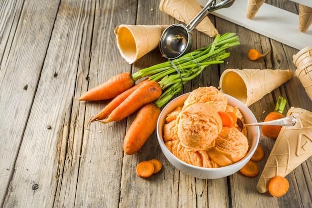 Vegan carrot ice cream