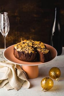 Vegan chocolate almond paleo cake