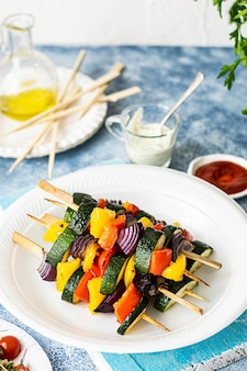 Vegan grilled vegetable skewers recipe idea