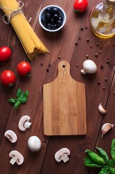 Vegan ingredients for italian pasta