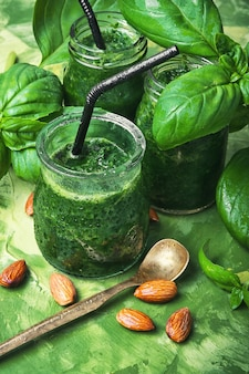 Vegan smoothies with spinach