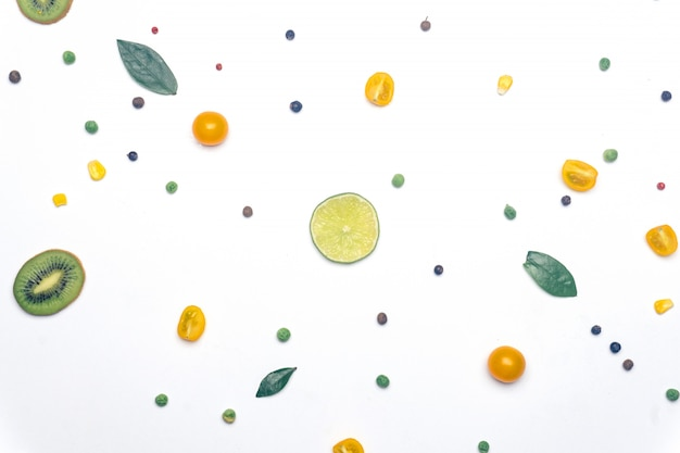 Vegan vegetables and fruit detox background