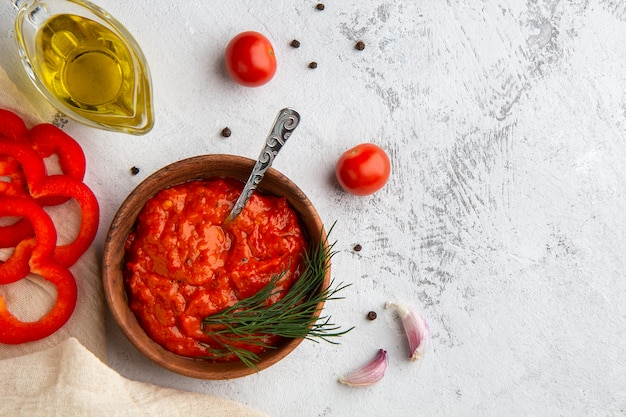 野菜キャビアajvar、ルテニツァ、ピンジュール
