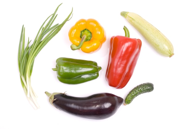Vegetable collection isolated