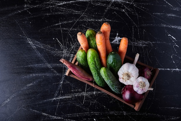 Овощной состав на черном