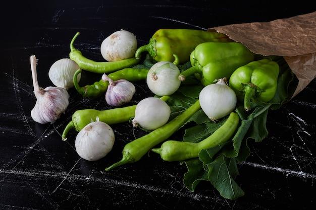 黒の野菜組成