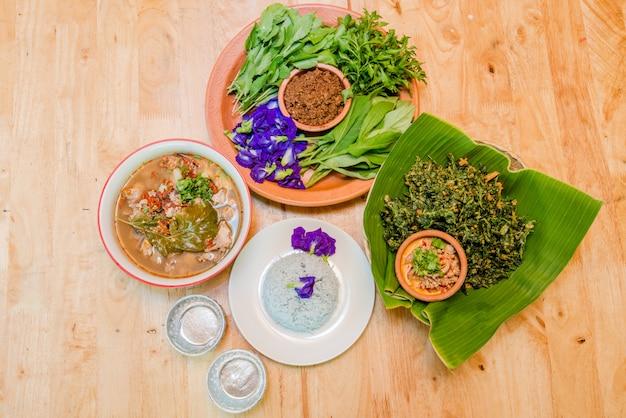 Vegetable food on table