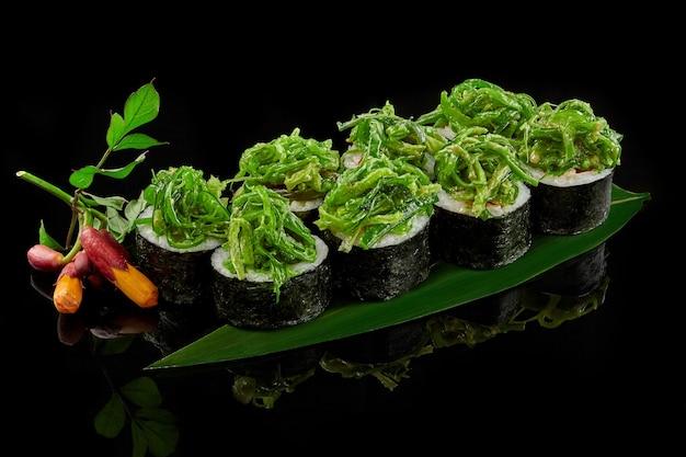わかめ海苔ピーマンと野菜巻き寿司