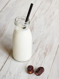 Vegetable milk with dates. date smoothie.