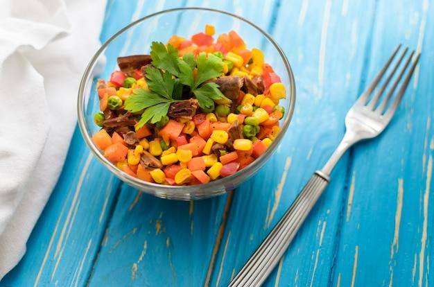 野菜ミックス「メキシコ」と鶏肉