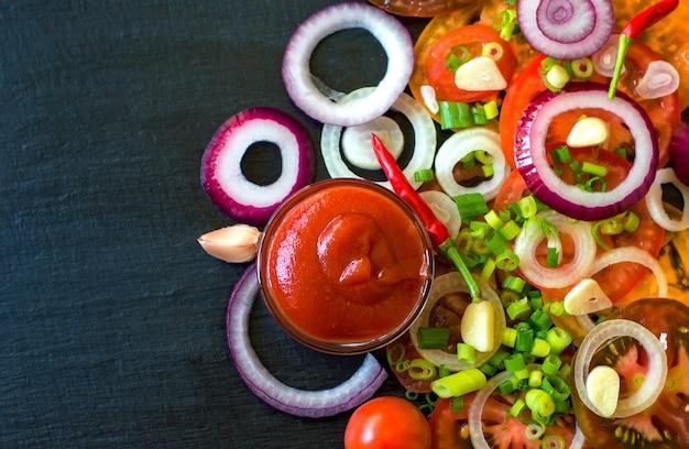 Vegetable salad ingredients