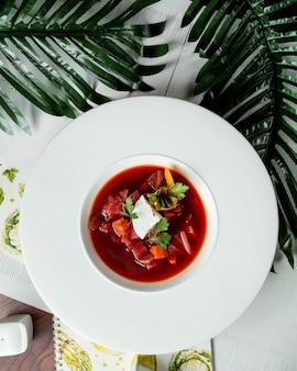 Овощной суп с белым сыром