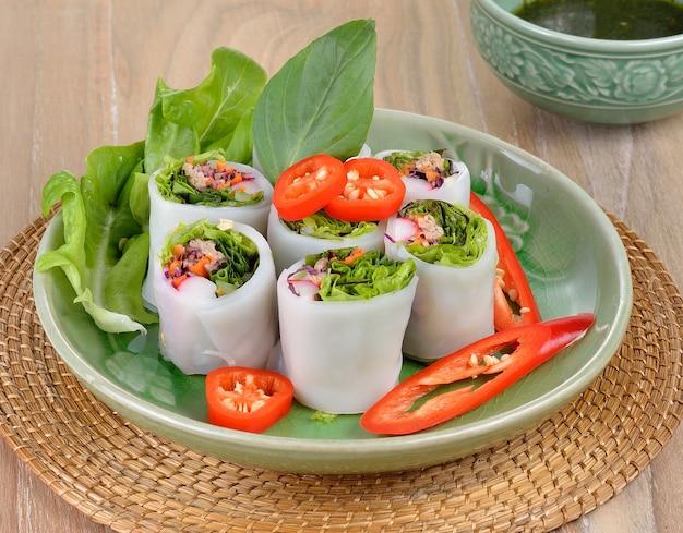 野菜春巻き、健康食品