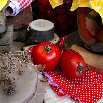 Vegetables autumn tomatoes