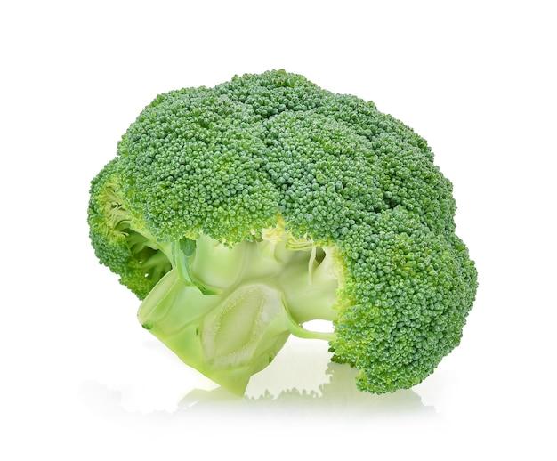 Брокколи овощи, изолированные на белом фоне