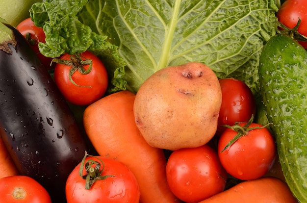 야채 가까이 고립 된 세부 사항