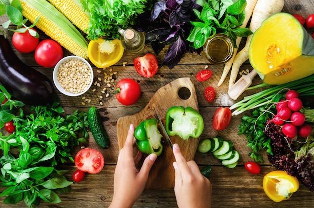 Vegetables and cooking ingredients