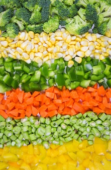 Vegetables and fruits background healthy food vegetables mixed