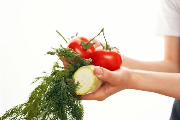 野菜野菜サラダの準備ビタミン健康食品