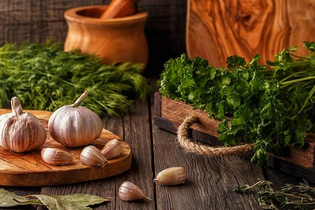 야채, 허브 및 향신료