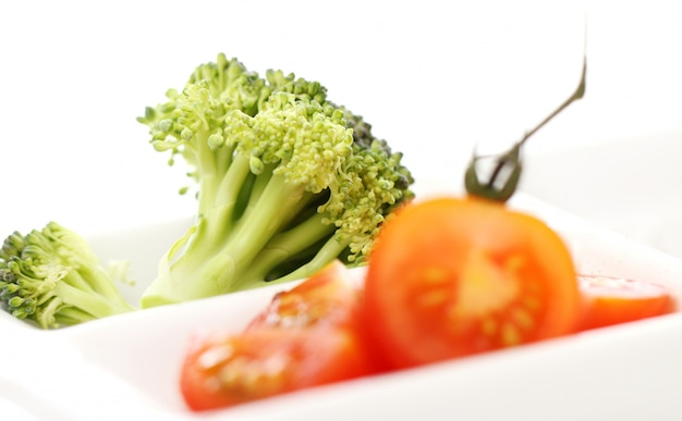 Vegetables in the plate