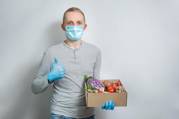 ウイルスの発生と検疫中の野菜の安全な宅配