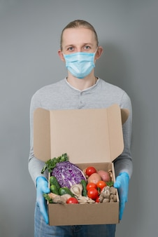 Vegetables safe home delivery during virus outbreak and quarantine