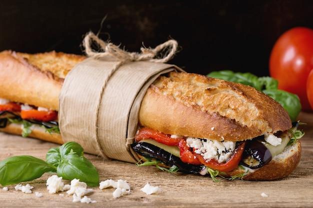 ベジタリアンバゲットサンドイッチ