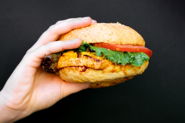 Vegetarian burger the concept of healthy food