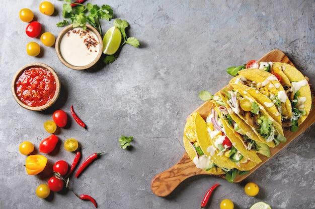 Vegetarian corn tacos