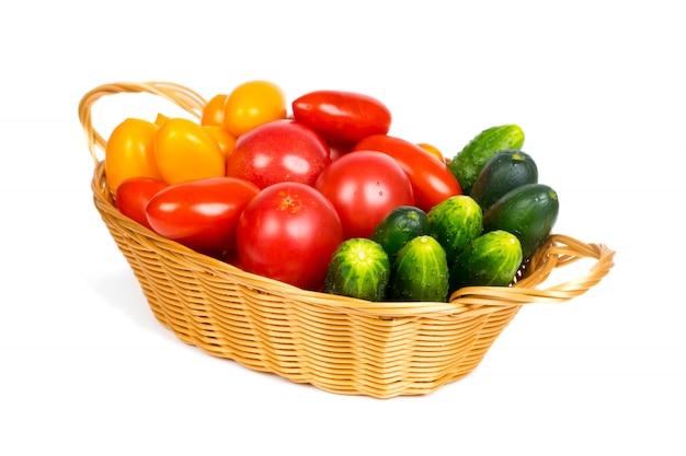 Вегетарианская еда, свежие органические овощи