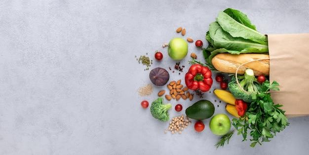 Вегетарианский продуктовый торговый набор.