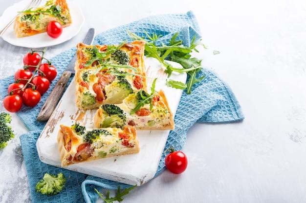 Vegetarian homemade quiche