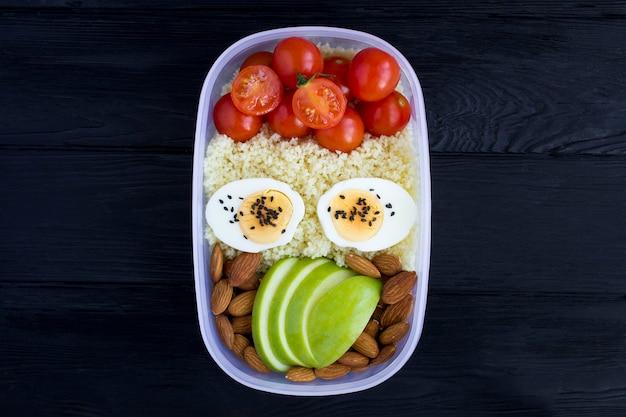 Вегетарианский обед в коробке