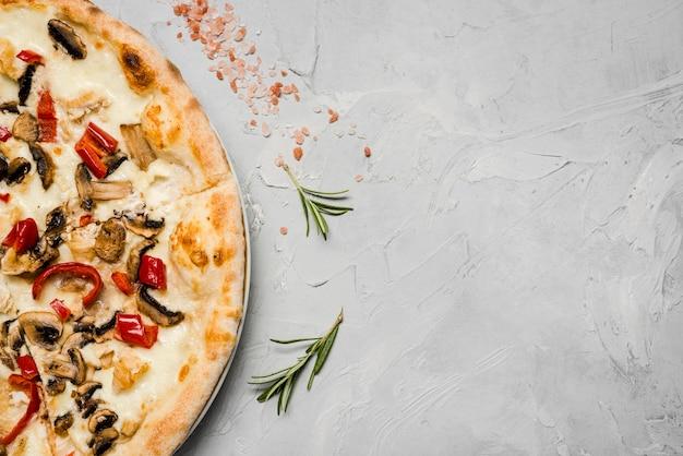 Вегетарианская пицца с копией пространства