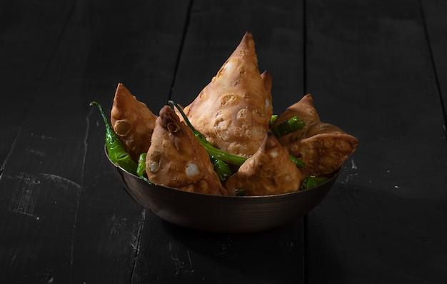 Vegetarian traditional street food of india