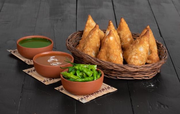 인도의 채식 전통 길거리 음식