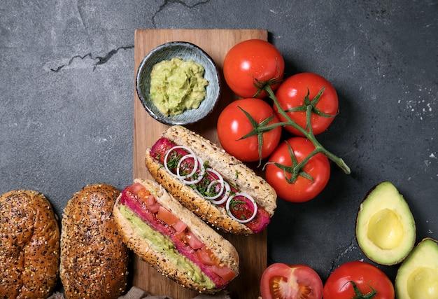 Vegeterian hot dogs