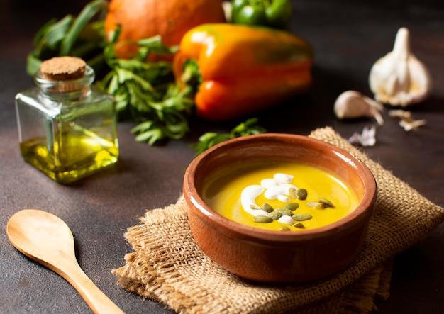 野菜クリームスープ冬の食べ物