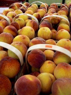 Veggies, peach