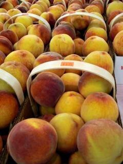Veggies, peaches