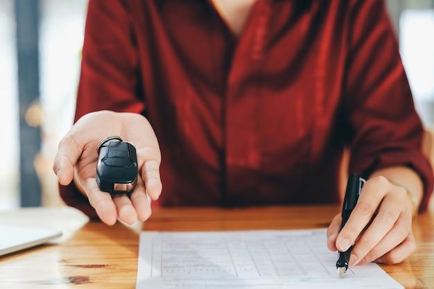 Vehicle sales agreement.
