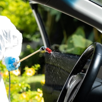 Vehicle sterilization and disinfection by medical staff
