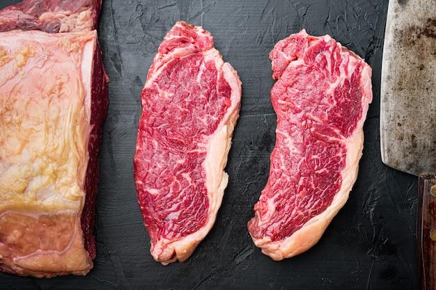 Veiny 스테이크, 차돌박이 쇠고기 생고기, 검정