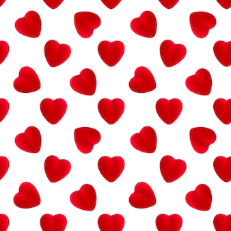 Velvet heart seamless pattern