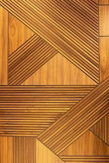 ベニヤパネル、幾何学的な十字パターンの木製の壁。建築の背景、テクスチャ