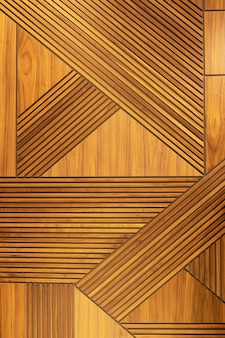 Veneer panel, geometric crisscross pattern wood wall. architectural background, texture