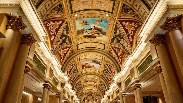 Hotel veneziano dall'interno, las vegas, usa