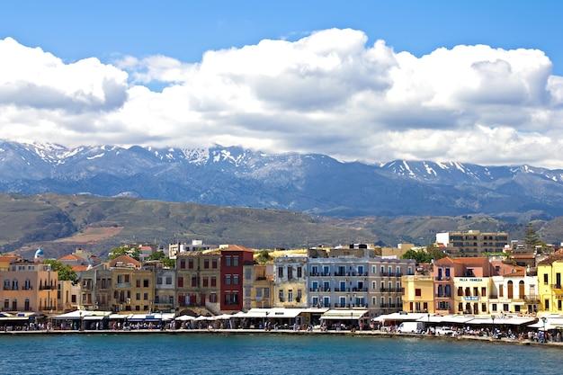 Venezian harbor in chania,crete Premium Photo